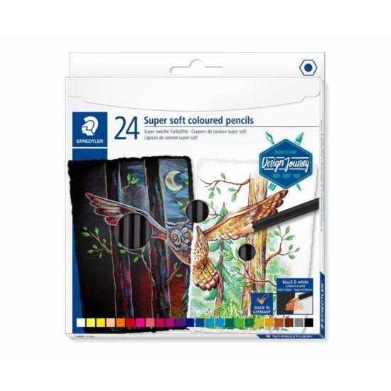 Staedtler Design Journey Colouring Pencils Super Soft Pack of 24