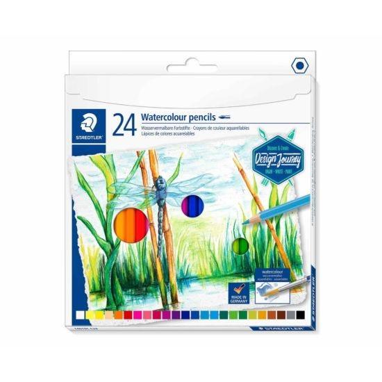 Staedtler Design Journey Watercolour Pencils Pack of 24