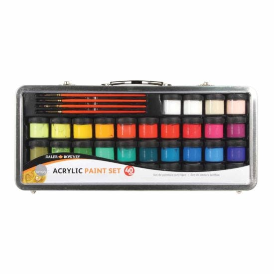 Daler Rowney Simply Acrylic Paint Set 40 Piece