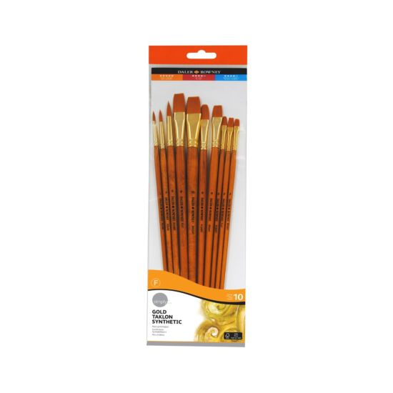 Daler Rowney Simply Gold Taklon Brush Set of 10