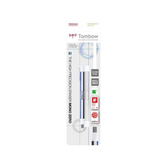 Tombow Mono Zero 2.5mm Eraser and Refill Broad