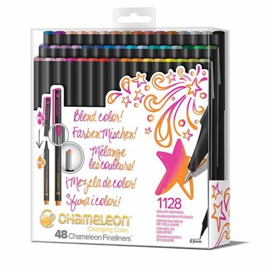 Chameleon Fineliners Changing Colour Pen Set of 48