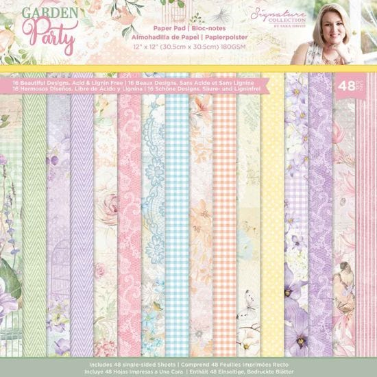 Garden Party Paper Pad 12 x 12 inches