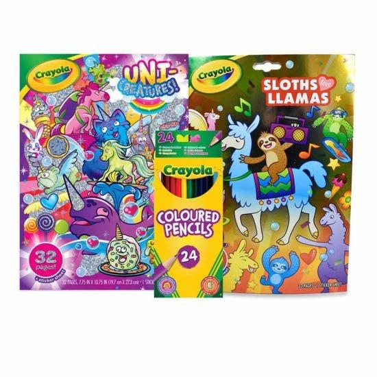 Crayola Sloths Llamas and Unicreatures Bundle
