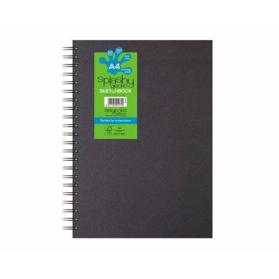 Artgecko Splashy Watercolour Sketchbook A4 300gsm