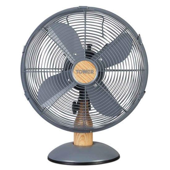 Scandi 12 inch Metal Desk Fan