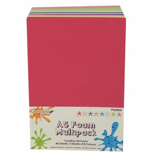 Dovecraft Creative Foam Sheets A5 Multipack Pastels Pack of 40