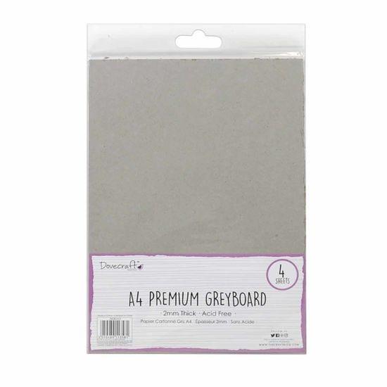 Dovecraft Essentials A4 Grey Board