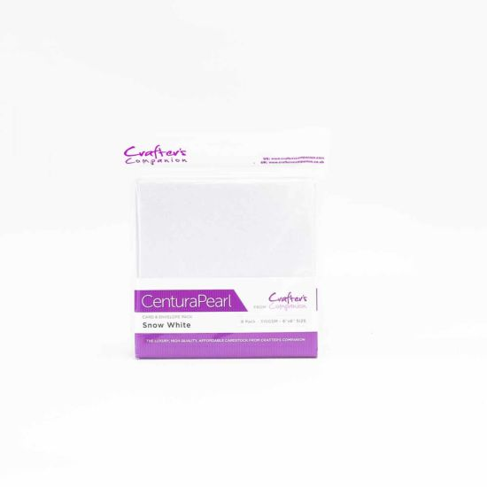 Crafters Companion 6x6 Card Envelope 8 Pack White