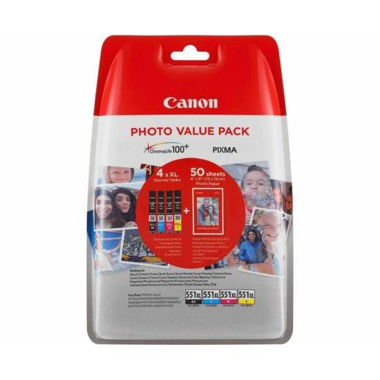 Canon CLI-551XL Photo Value Pack Original Ink Tanks