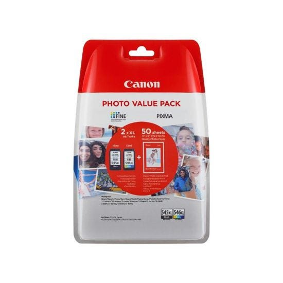 Canon Ink Cartridge PG-545XL CL-546XL Value Pack