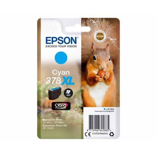 Epson 378XL Cyan Squirrel Original Ink Cartridge