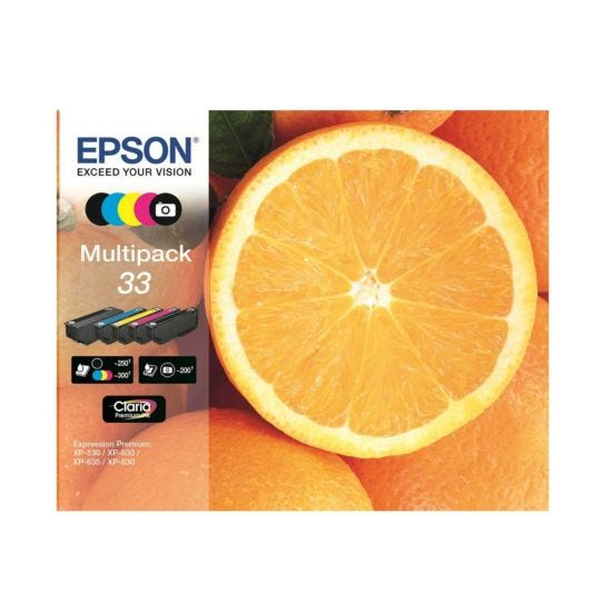 Epson 33 Orange Home Ink Cartridge  Multipack