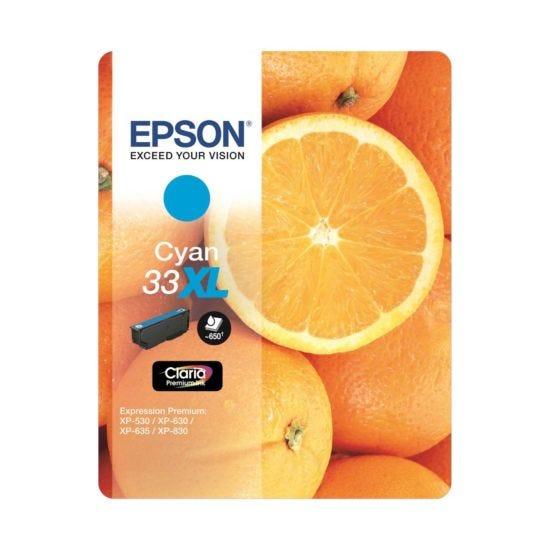 Epson 33 Orange Home Ink Cartridge XL Cyan