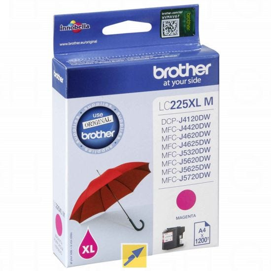 Brother LC225XLM Ink Magenta