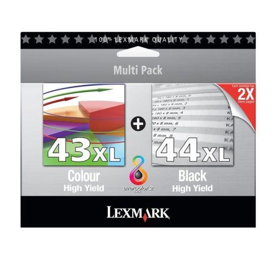 Lexmark 43XL and 44XL Black and Colour Cartridge