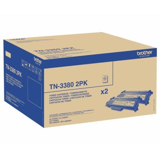 Brother TN-3380 Twin Pack Black Original Toner Cartridge
