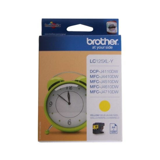 Brother LC125XL Ink Cartridge Yellow