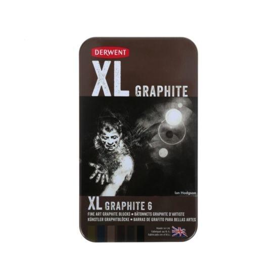Derwent XL Tin of 6  Graphite