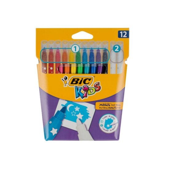 BiC Kids Colour and Erase Felt Pens Pack of 12