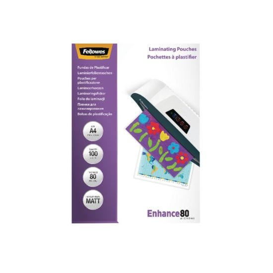 Fellowes Laminating Pouch A4 160 Micron Pack of 100