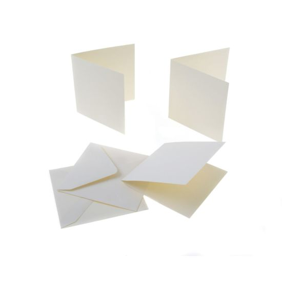 Craft UK Cards and Envelopes 5x5 (12.5x12.5cm) 225gsm Pack of 50