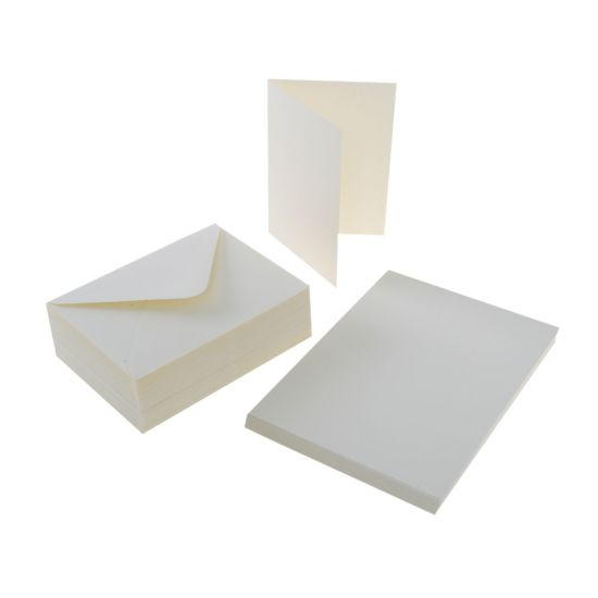 Craft UK Cards and Envelopes 6x4 Pack of 50