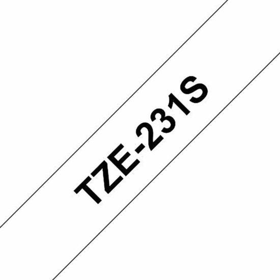 Brother TZE231S Tape Black and White
