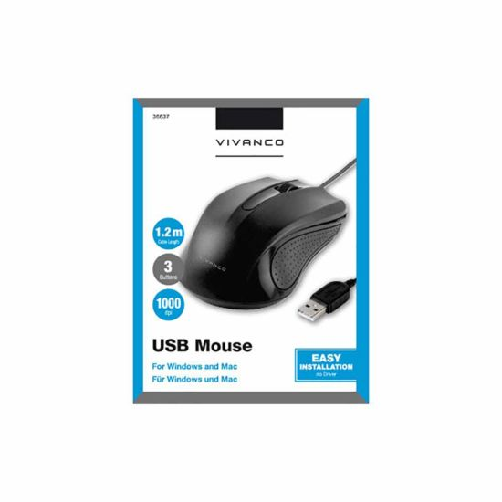 Vivanco IT-MS Wired USB Mouse
