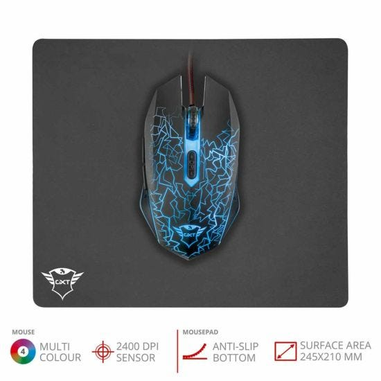 Trust GXT 738 Izza Gaming Mouse and Pad Set