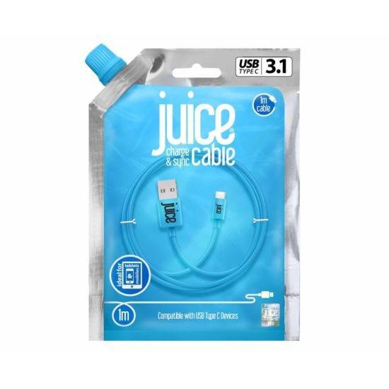 Juice Type C to USB Cable 1m Aqua