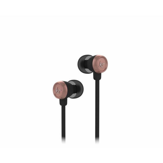 KitSound Hudson Wired In-Ear Headphones Rose Gold