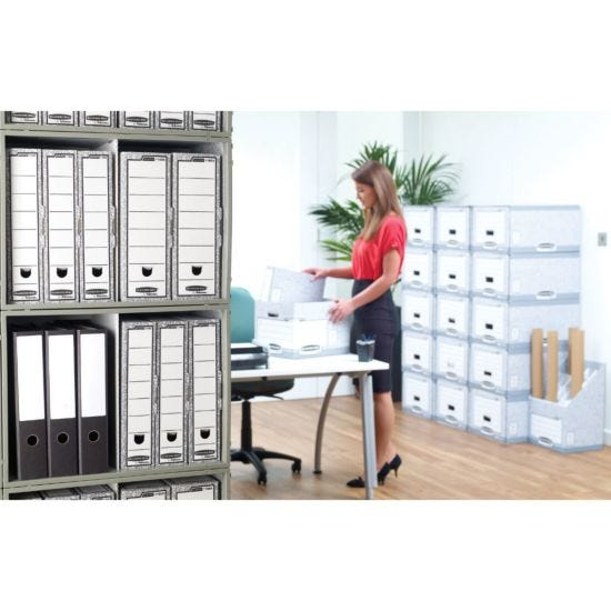 Bankers Box by Fellowes System Large Storage Box with Fastfold