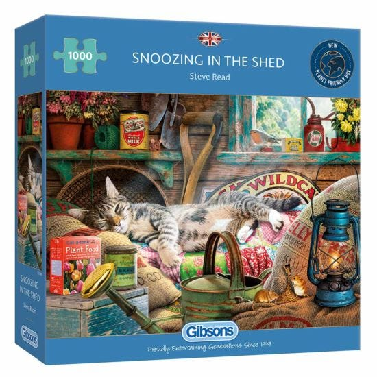 Gibsons Snoozing in the Shed 1000 Piece Jigsaw Puzzle