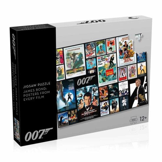 James Bond Movie Poster 1000 Piece Jigsaw Puzzle