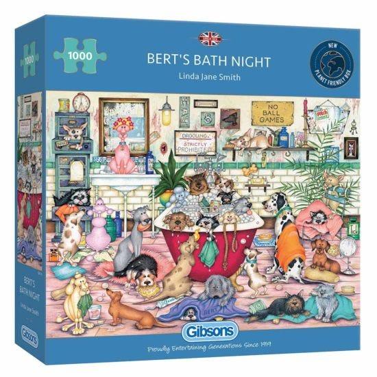 Gibsons Berts Bath Night 1000 Piece Jigsaw Puzzle