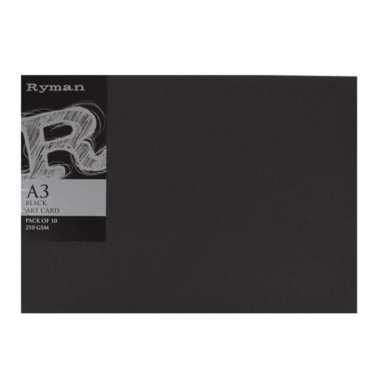 Ryman Art Card A3 210gsm Pack of 10