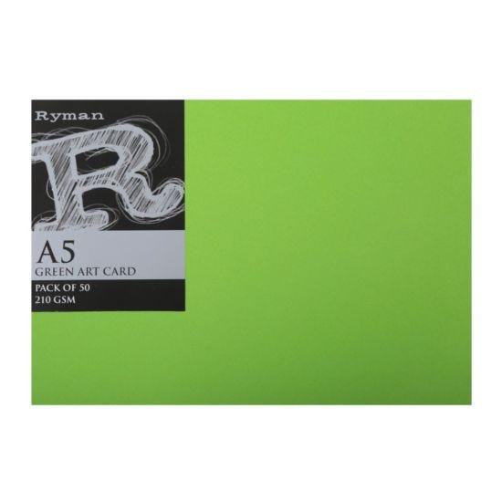 Ryman Art Card A5 210gsm Pack of 50