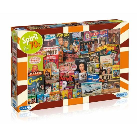 Gibsons Jigsaw Puzzle Spirit of the 70s 1000 Pieces