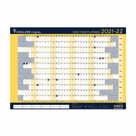 Collins Colplan Academic Wall Planner A1 2021