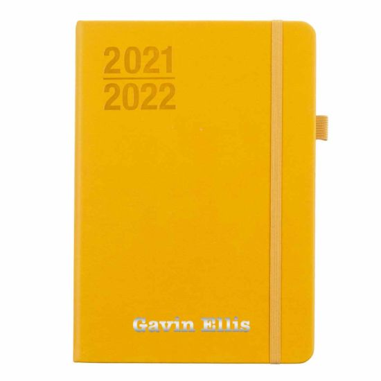 Ryman Personalised Mid-Year Diary Week to View A5 2021-2022 Silver Foil Ochre