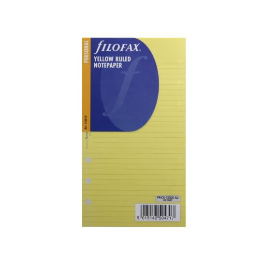 Filofax Refill Personal 30 Sheets Ruled Yellow
