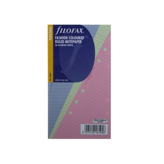Filofax Refill Personal 30 Sheets Ruled