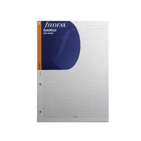 Filofax Refill A4 20 Sheets Quadrille