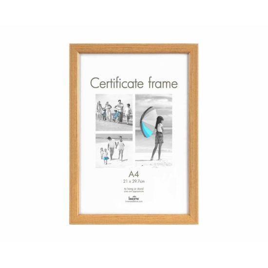 Innova Certificate Frame A4 Pack of 12 Oak