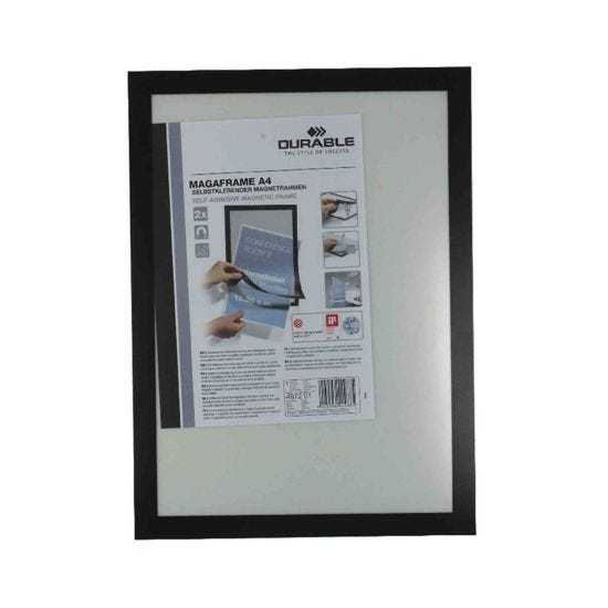 Durable Duraframe Magnetic Display Frame A4 Pack of 2