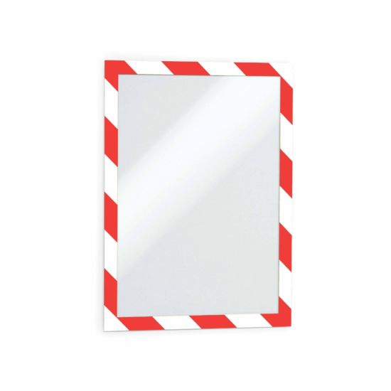 Duraframe Red and White Safety Adhesive Frame A4