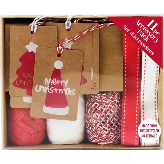 Christmas Kraft Paper Wrapping Accessory Pack