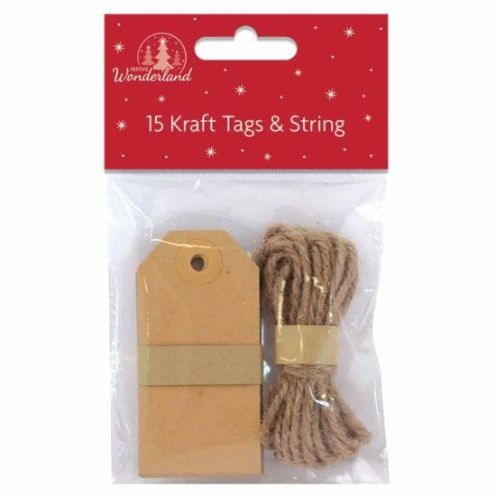 Christmas Kraft Tags 15 Pack