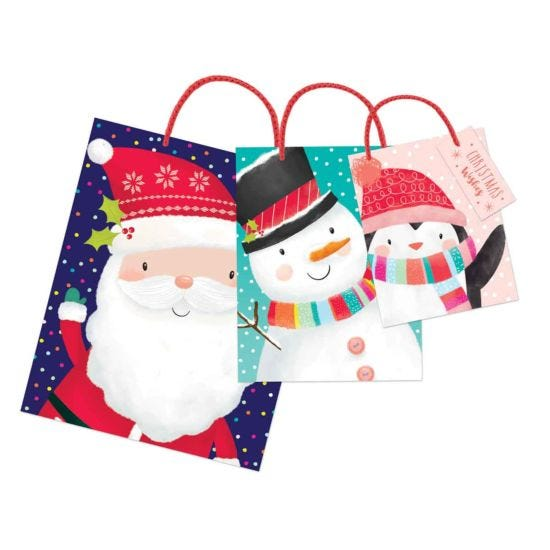 Cute Christmas Gift Bags Pack of 3